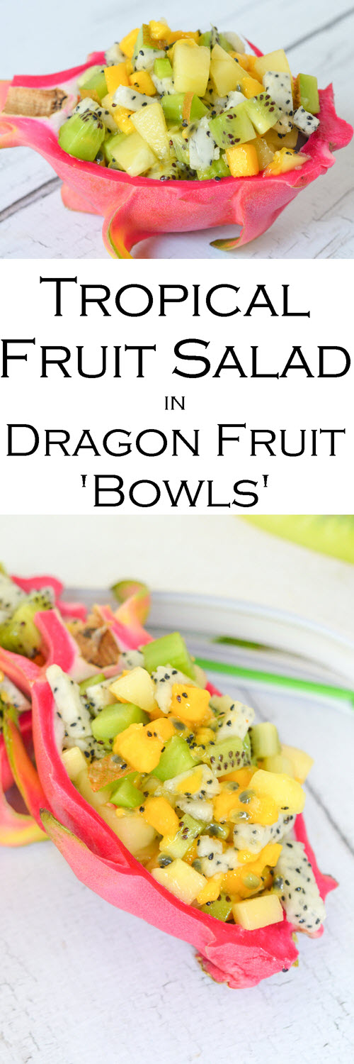 Watch a video on how to cut tropical fruit, including dragon fruit, kiwi, mango, passionfruit, and how to cut a pineapple. Tropical Fruit Salad in Dragon Fruit Bowl. #breakfast #brunch #tropical #dragonfruit #melissasproduce #mango #video #homecook #foodvideo #youtube #foodie #lmrecipes #youtuber