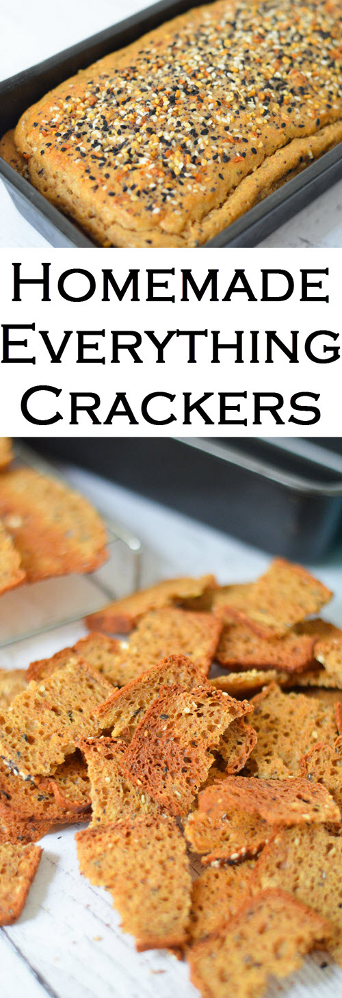 Homemade Everything Crackers + Bagel Chips Recipe. Homemade Everything Bagel Seasoning + Homemade Recipe for Trader Joe's Everything but the Bagel Seasoning. #recipes #crackers #appetizers #delicious #foodblog #entertaining #bagels #lmrecipes