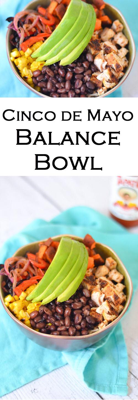 Easy Mexican Dinner Ideas. Cinco de Mayo Mexican-Inspired Balance Bowl Recipe. #mexicanfood #dinnerideas #leftovers #dinner #weeknightdinner #lmrecipes #foodblog #foodblogger