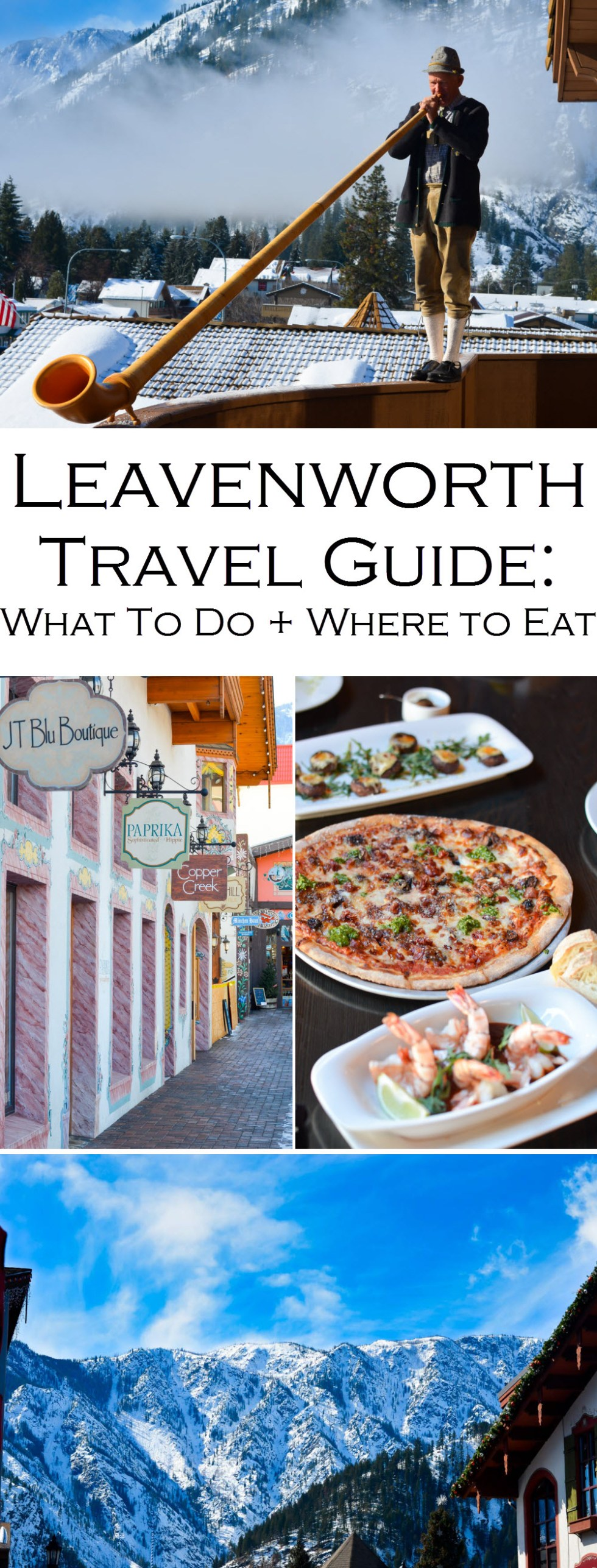 Where to Eat + Stay, What to Do in Leavenworth, Washington Travel Guide. A fun Bavarian town in the PNW. A great day trip from Yakima or a weekend trip from Seattle. #PNW #washington #ustravel #travelblog #travelblogger #lpworldtravels