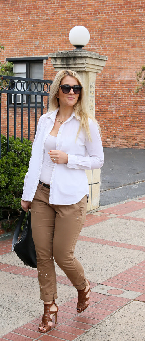 khaki pants outfit for summer day to night  luci's morsels