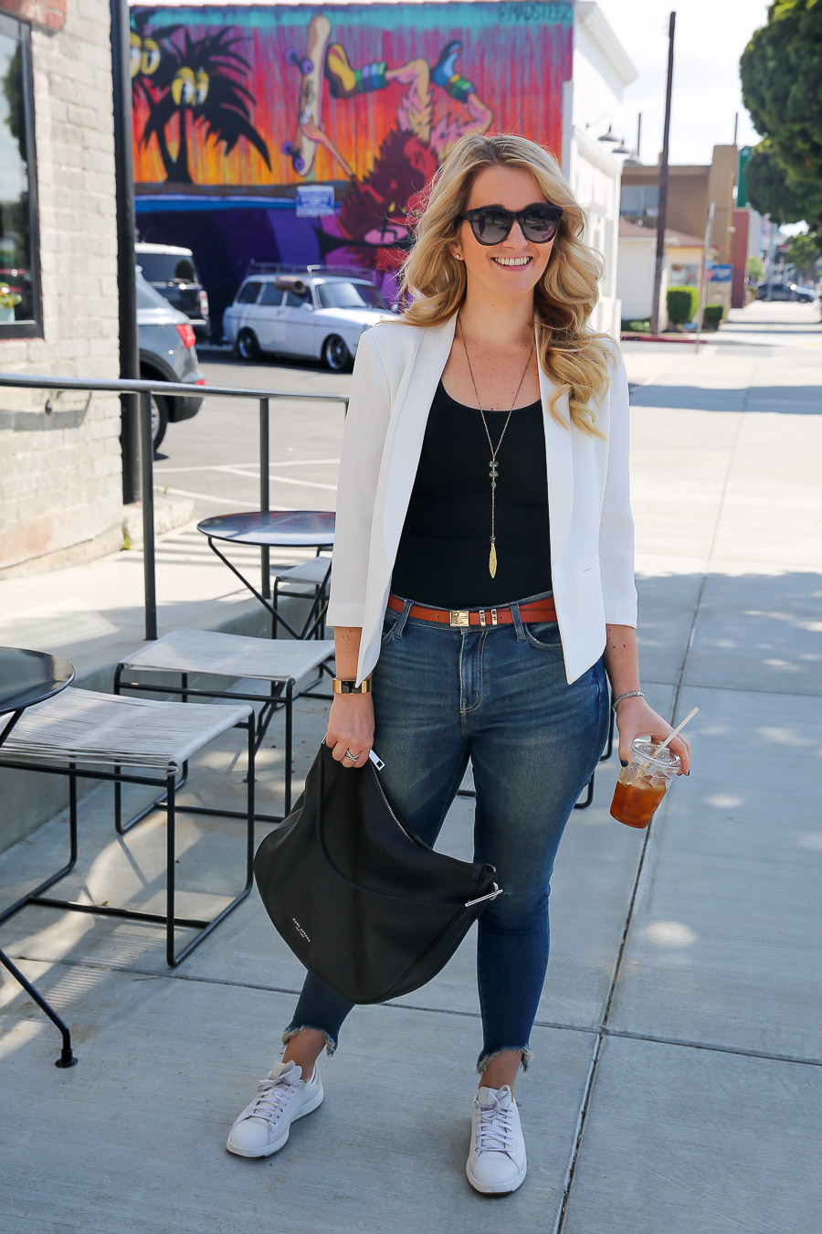 White Summer Blazer Outfit for Women