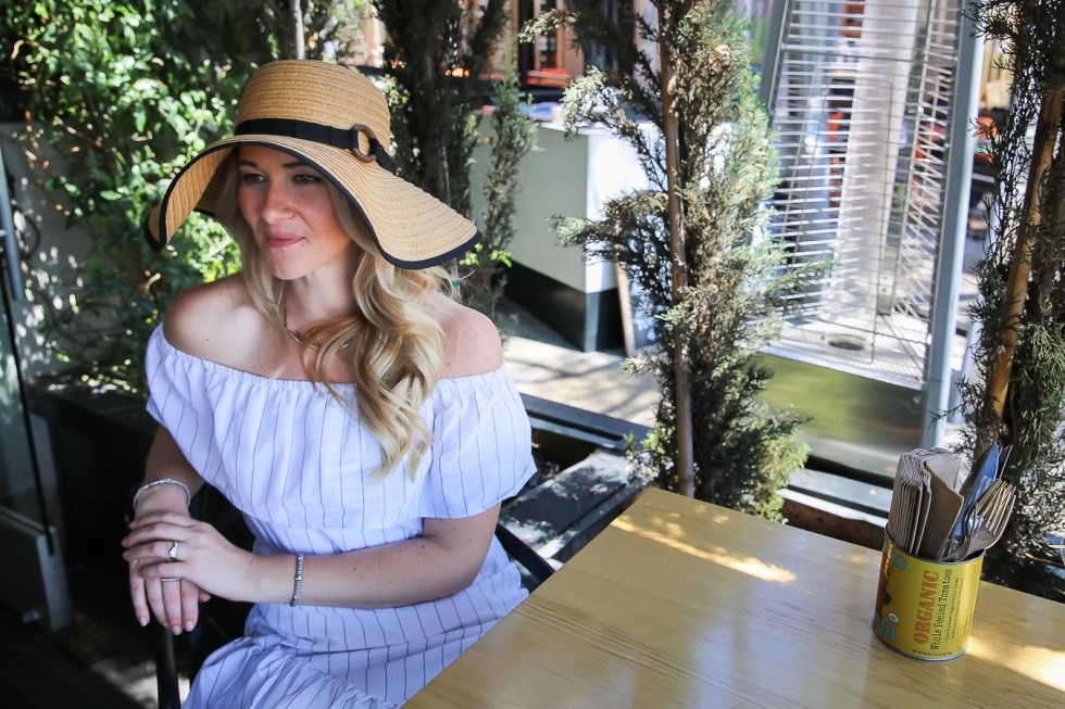 Off the Shoulder Dress Accessories + Outfit Idea