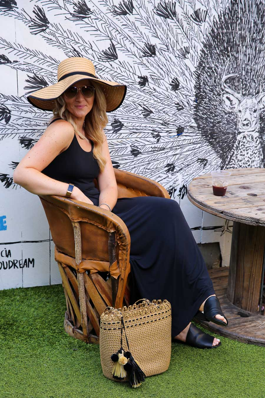 How to Style a Maxi Dress and Hat