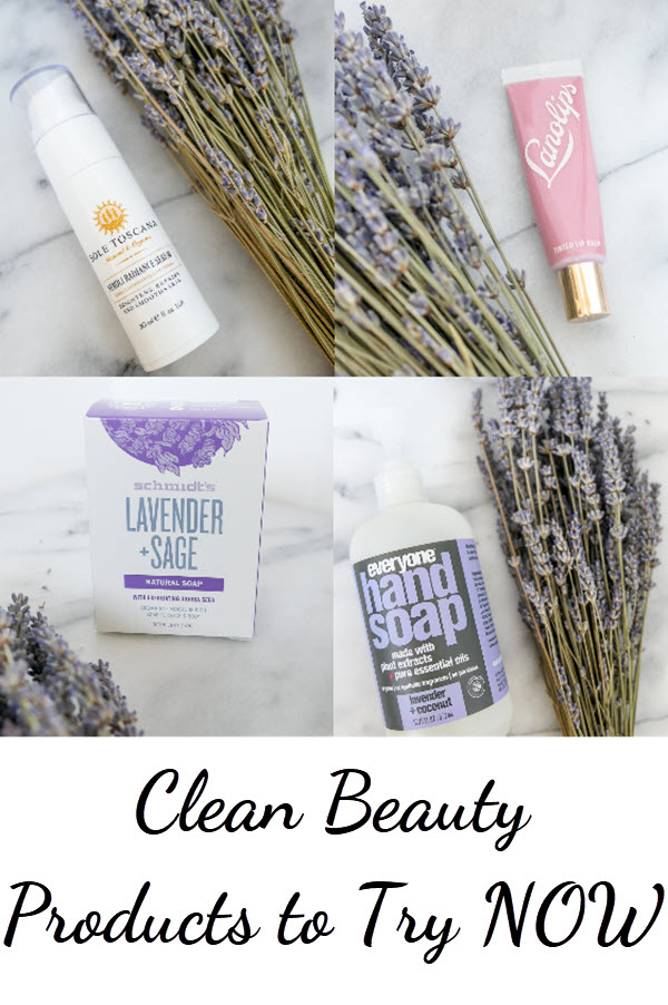Clean Beauty Products 2018. Hand Soap, lip gloss, organic brightening face serum, and bar soap. #cleanbeauty #naturalbeauty #homedecor #crueltyfree #allnatural #beauty #skincare #homegoods