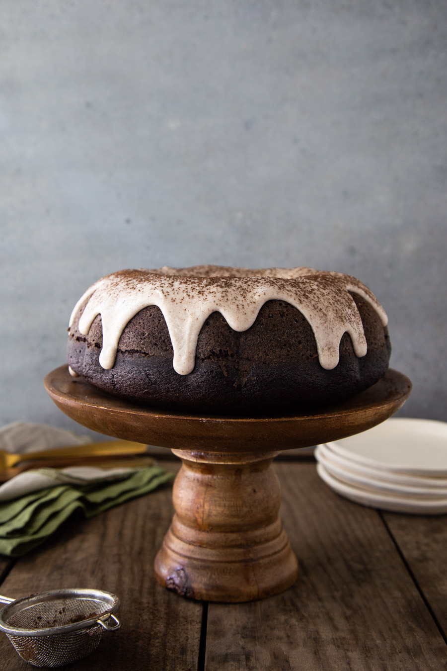 Mexican Chocolate Cake with Cinnamon Glaze