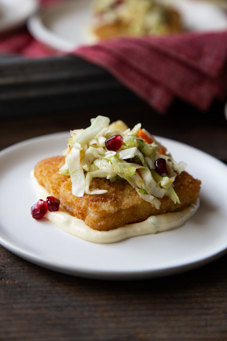 Fish Fillet + Winter Slaw Appetizer