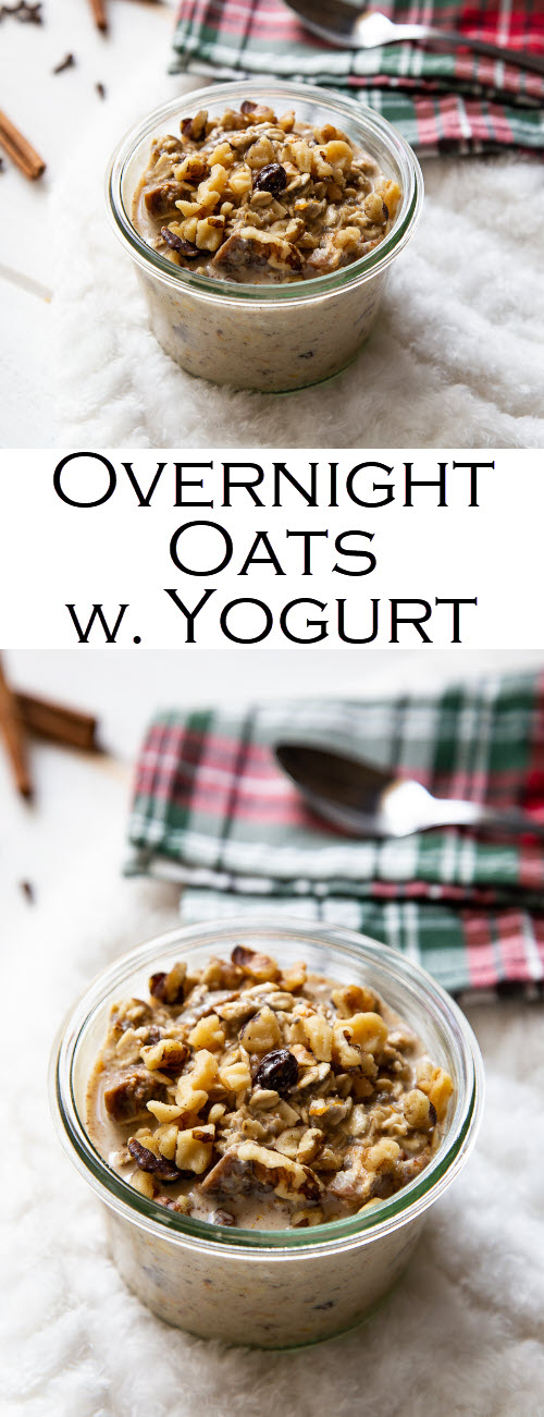 Overnight Oats with Yogurt Recipe. A delicious make ahead breakfast for one or a crowd.