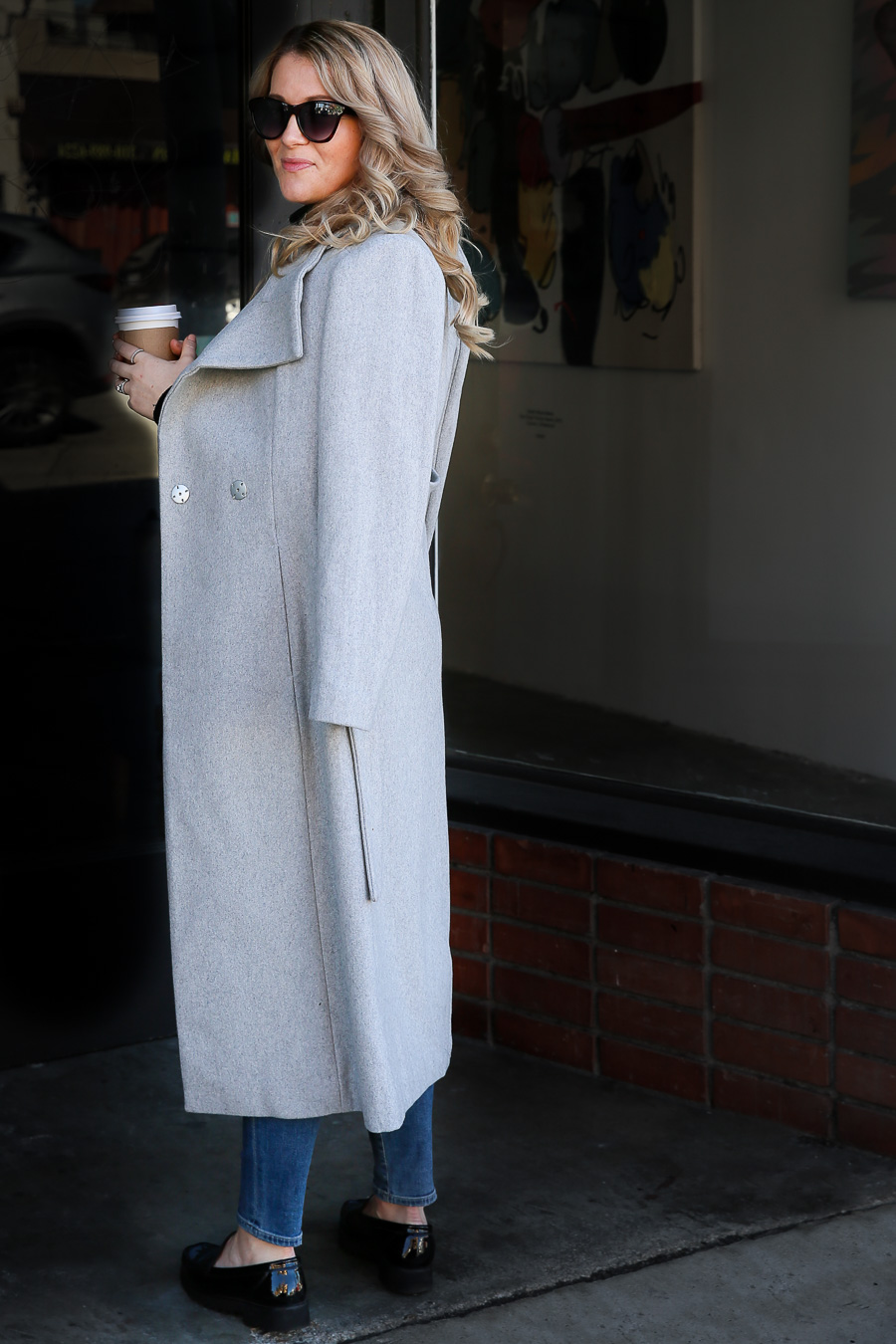 Clothes to Buy on Amazon - Grey Wool Coat Outfit