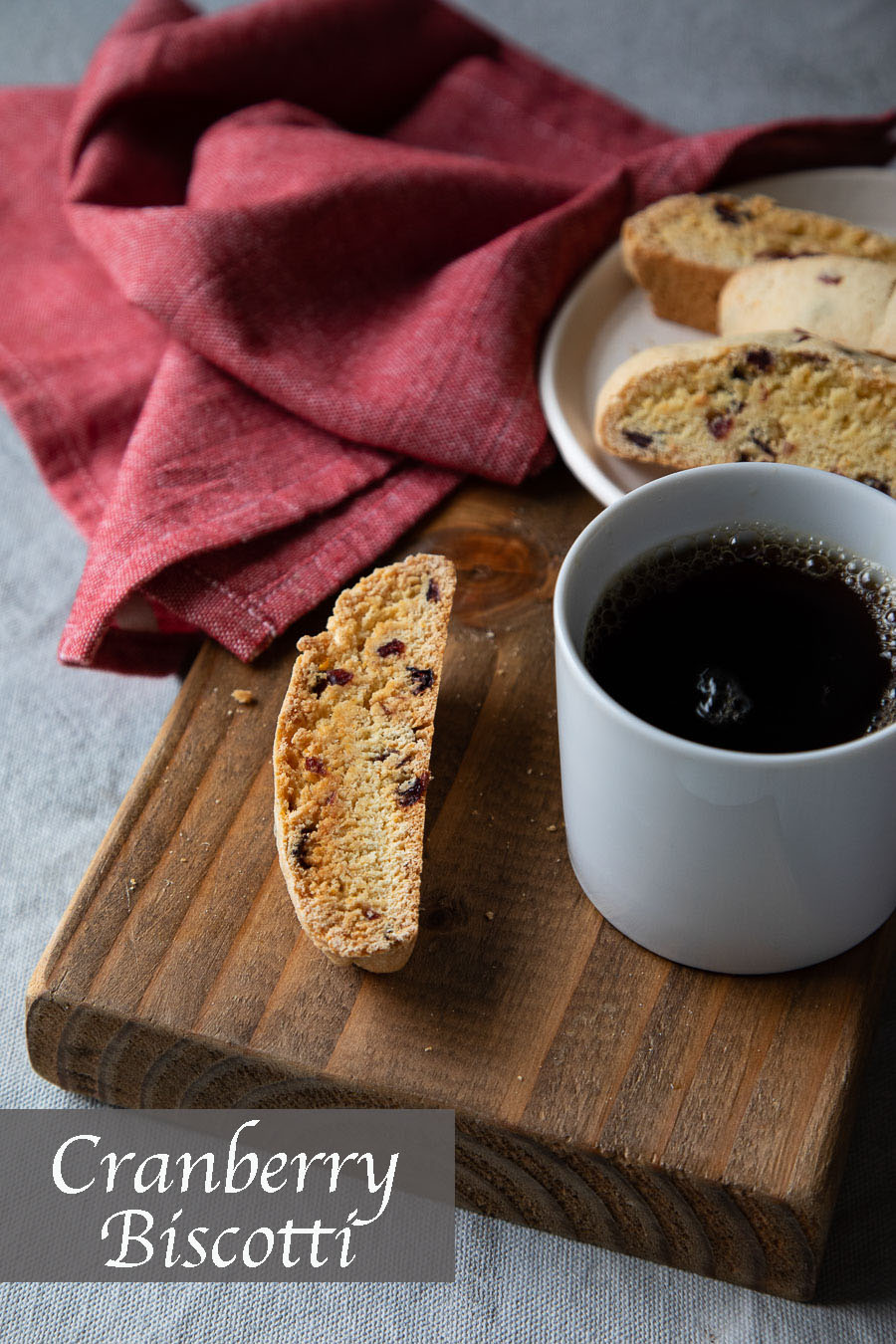 Cranberry Biscotti Recipe. A healthy biscotti recipe perfect for coffee or tea. This recipe is inspired by Italian cookies and are perfect for a snack. #lmrecipes #cookies #biscotti #baking