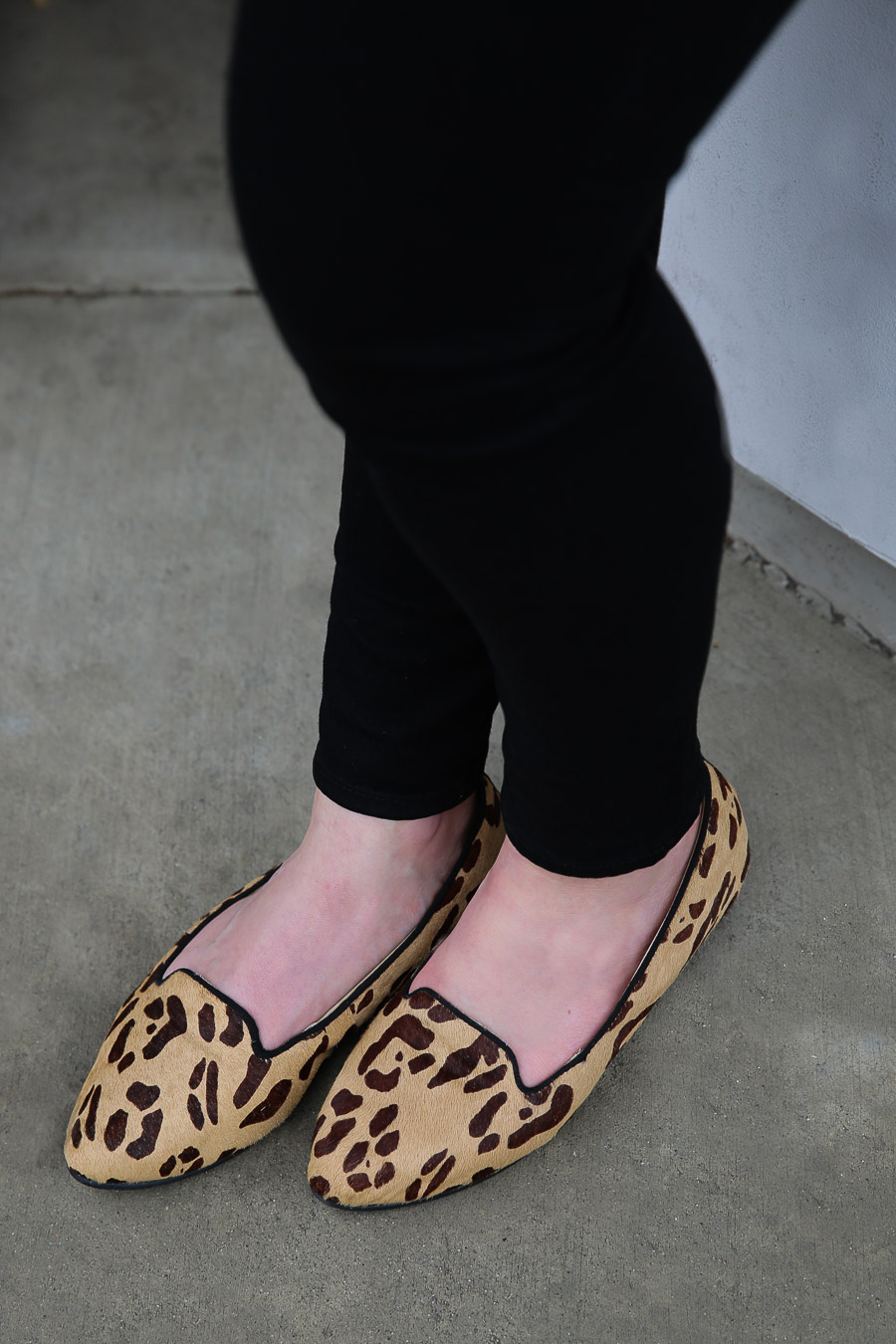 Leopard Flats Outfit - Cute Pregnancy Outfit