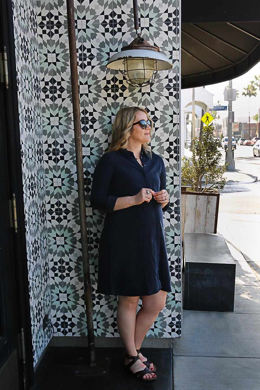 Maternity Shirt Dress Outfit - Isabella Oliver
