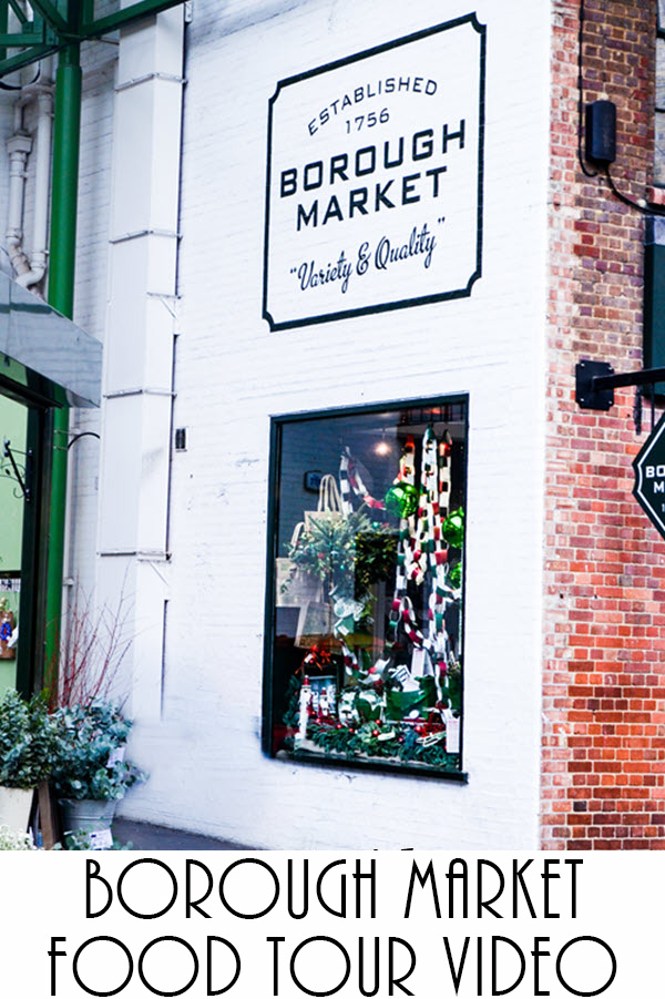 Borough Market Food Tour Video. See what to do in London at London Bridge as well as where to eat and drink at Borough Market. #travel #uk #london