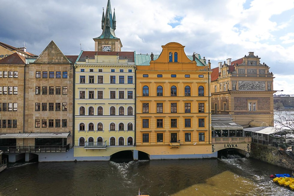Prague Architecture Photos - Vltava River