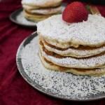 Fluffy Lemon Strawberry Pancakes