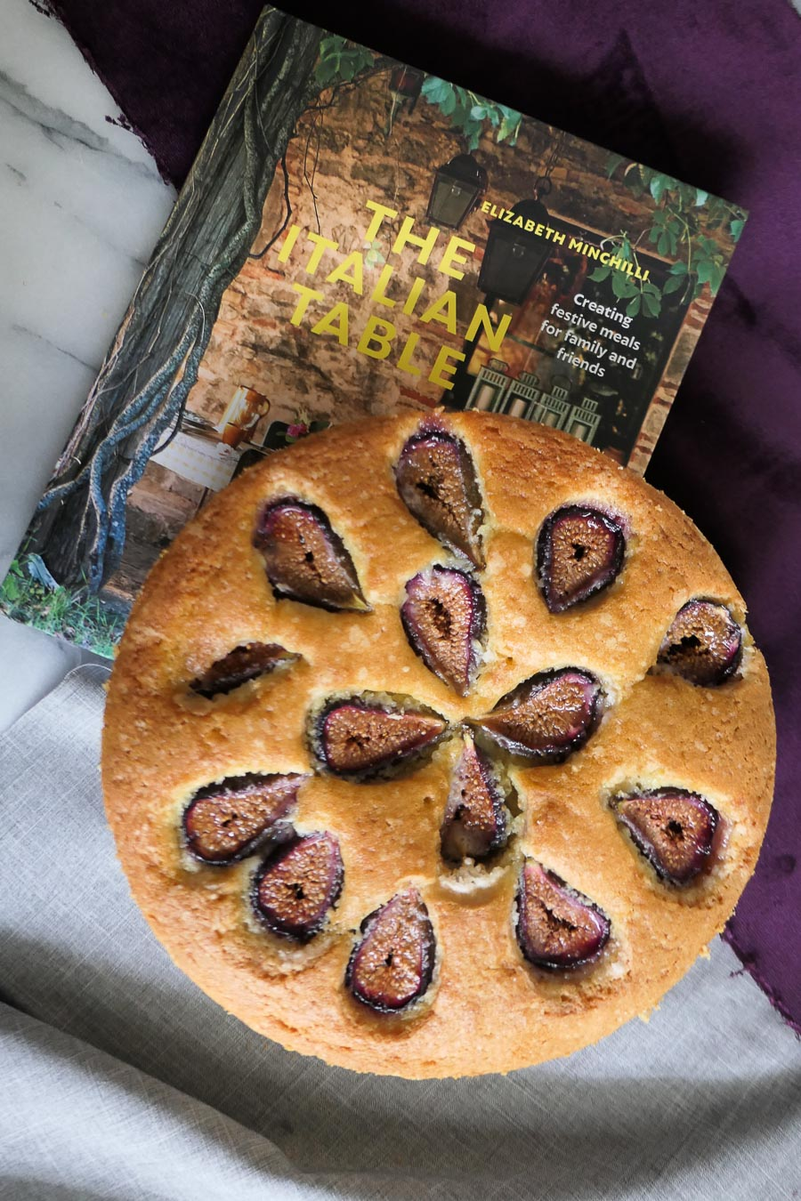 Butter Cake with Fresh Figs