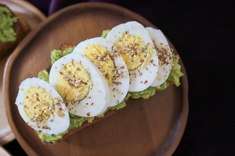 Hard Boiled Egg Avocado Toast