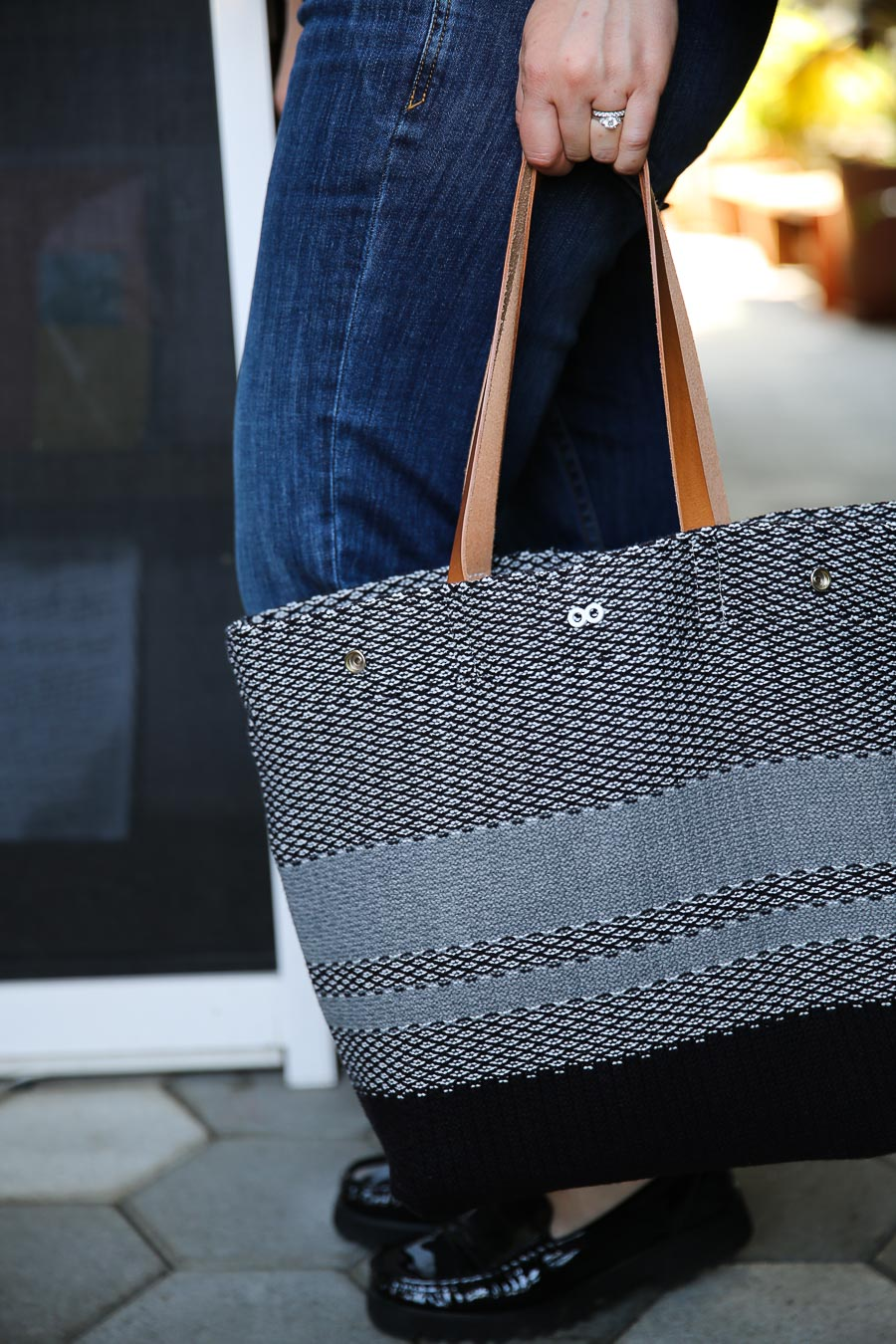 Knitted Tote Bag - Edgy Maternity Clothes