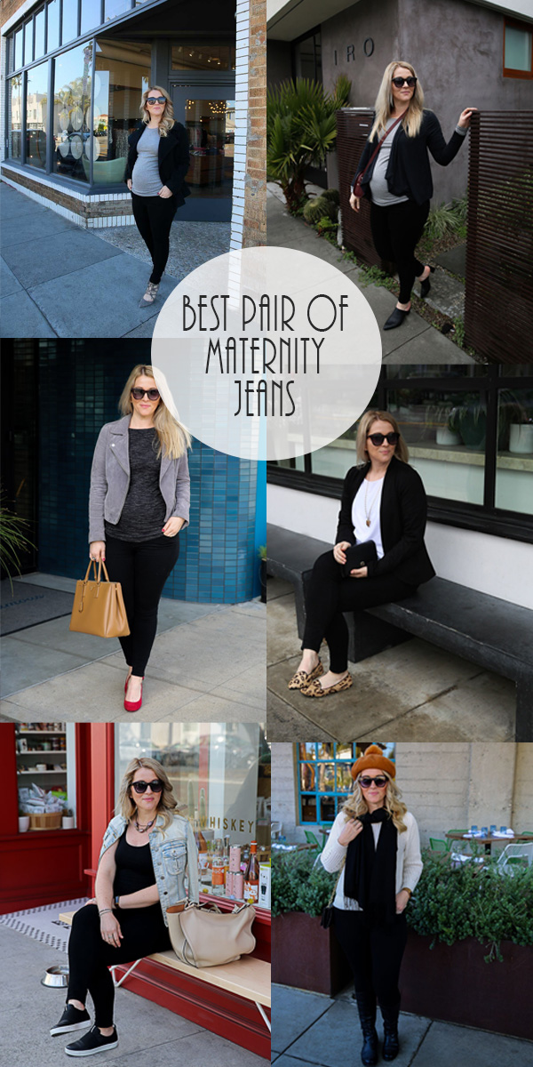 Best Maternity Jeans. This one pair of maternity jeans will take you from first trimester to third trimester is comfort and style. #pregnancy #maternity #maternityfashion