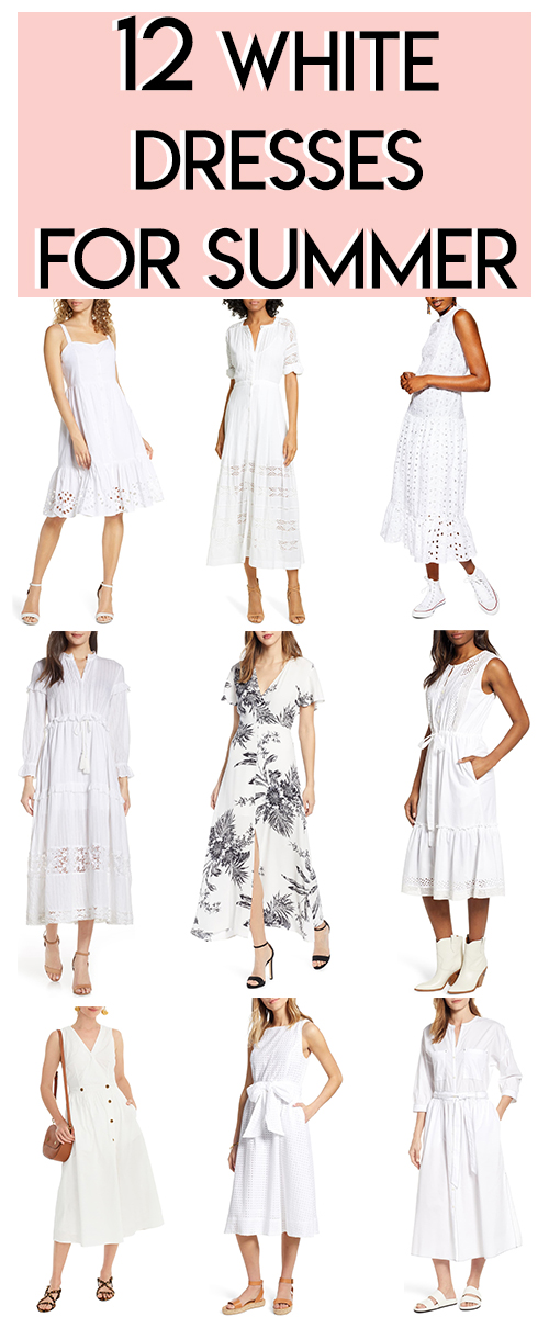White Dresses for Summer from Nordstrom