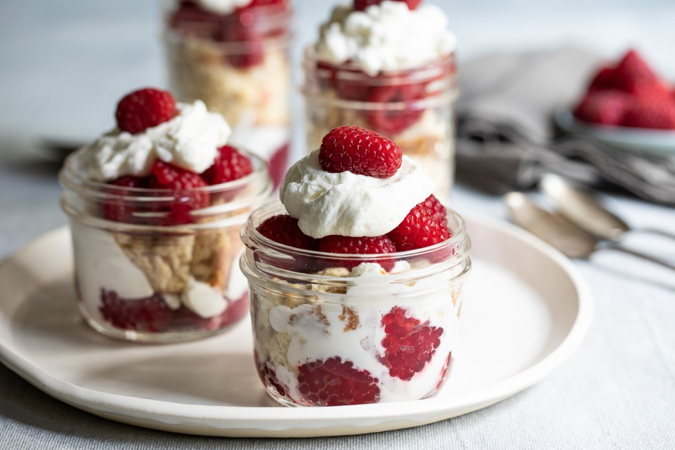 Individual Raspberry Shortcake Trifles