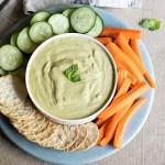 Basil Hummus Appetizer Plate