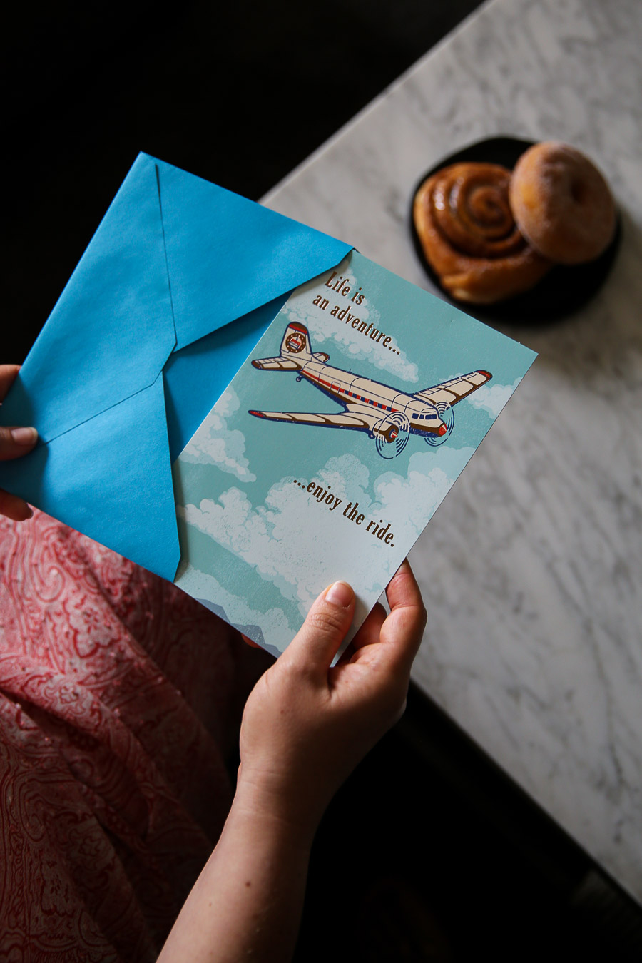 Summer Greeting Cards - Paper Airplane Birthday Card