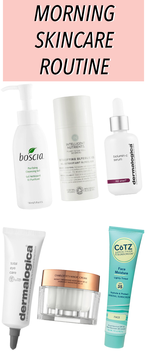 Morning Skincare Routine. See what products and what order to apply these skincare products for acne, scarring, and hyperpigmentation. #beauty #skincare #bblogger #beautyblog