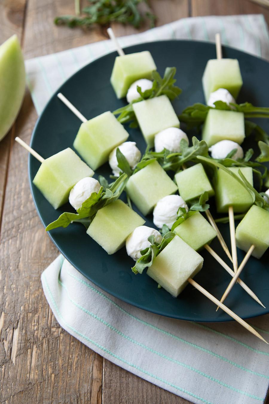 Honeydew Melon Appetizer Skewers