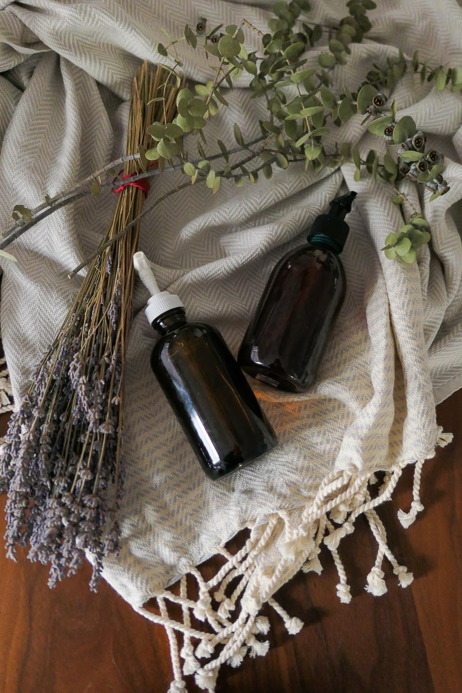 DIY lavender hand soap gifts