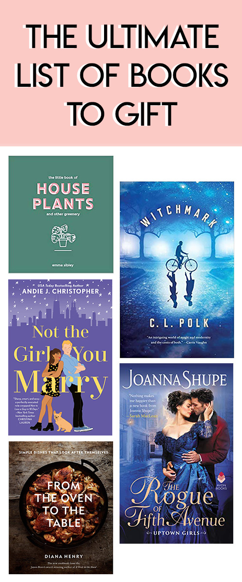 Great Books to Gift this Holiday Season - ROmance, SciFI, Cookbooks, Gardening