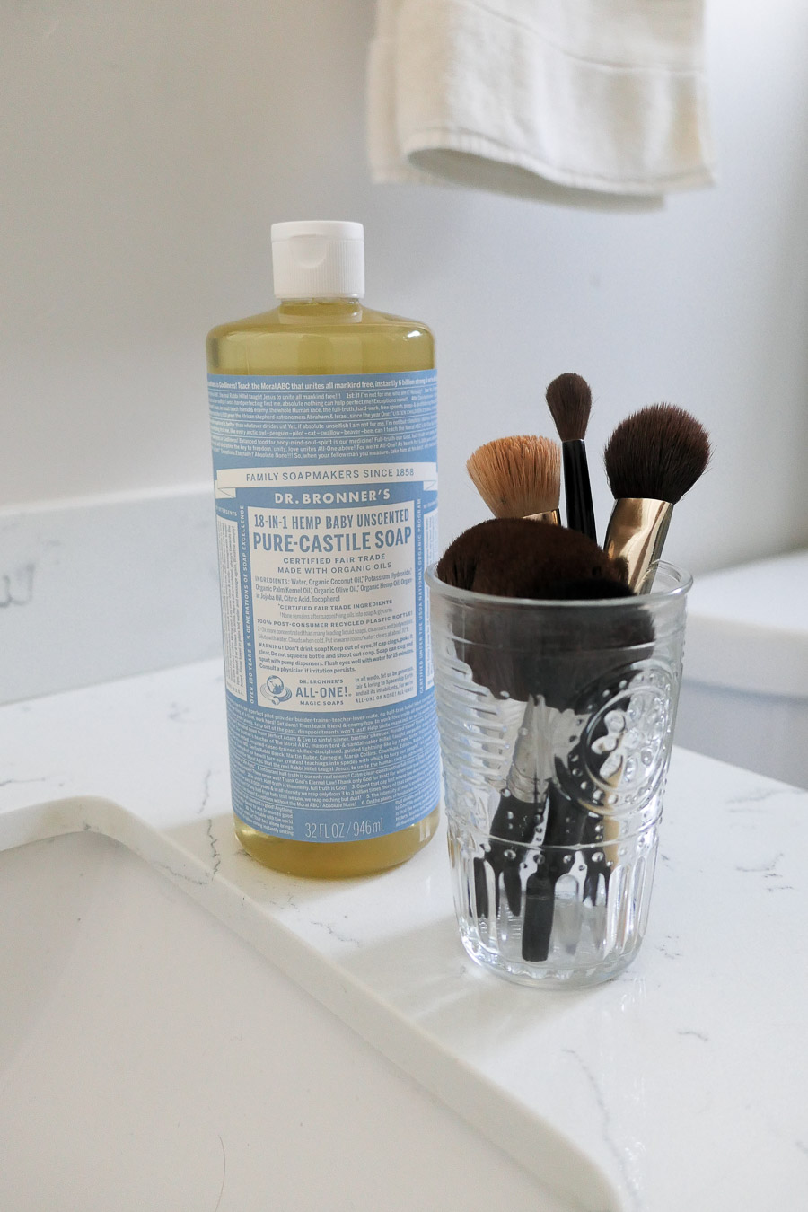 How to Clean Makeup Brushes Sustainably