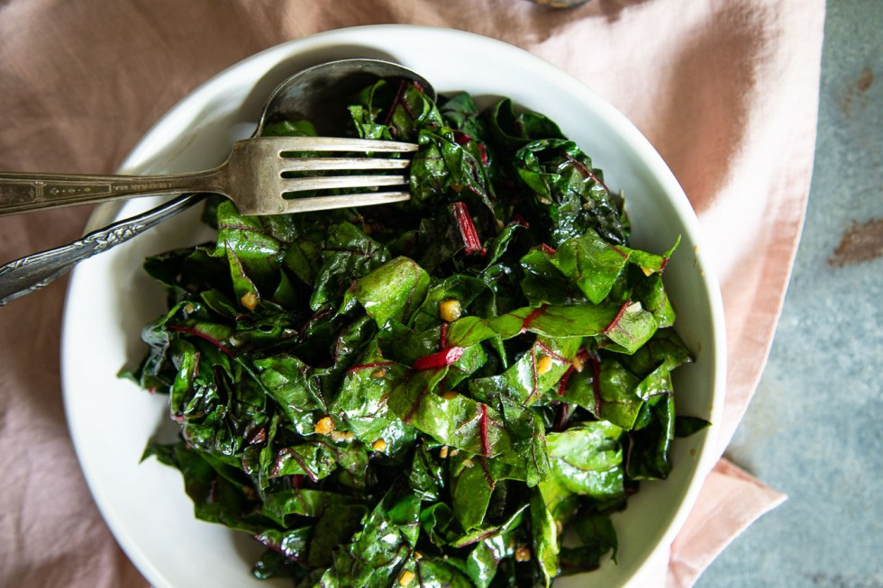 Swiss Chard with Ginger