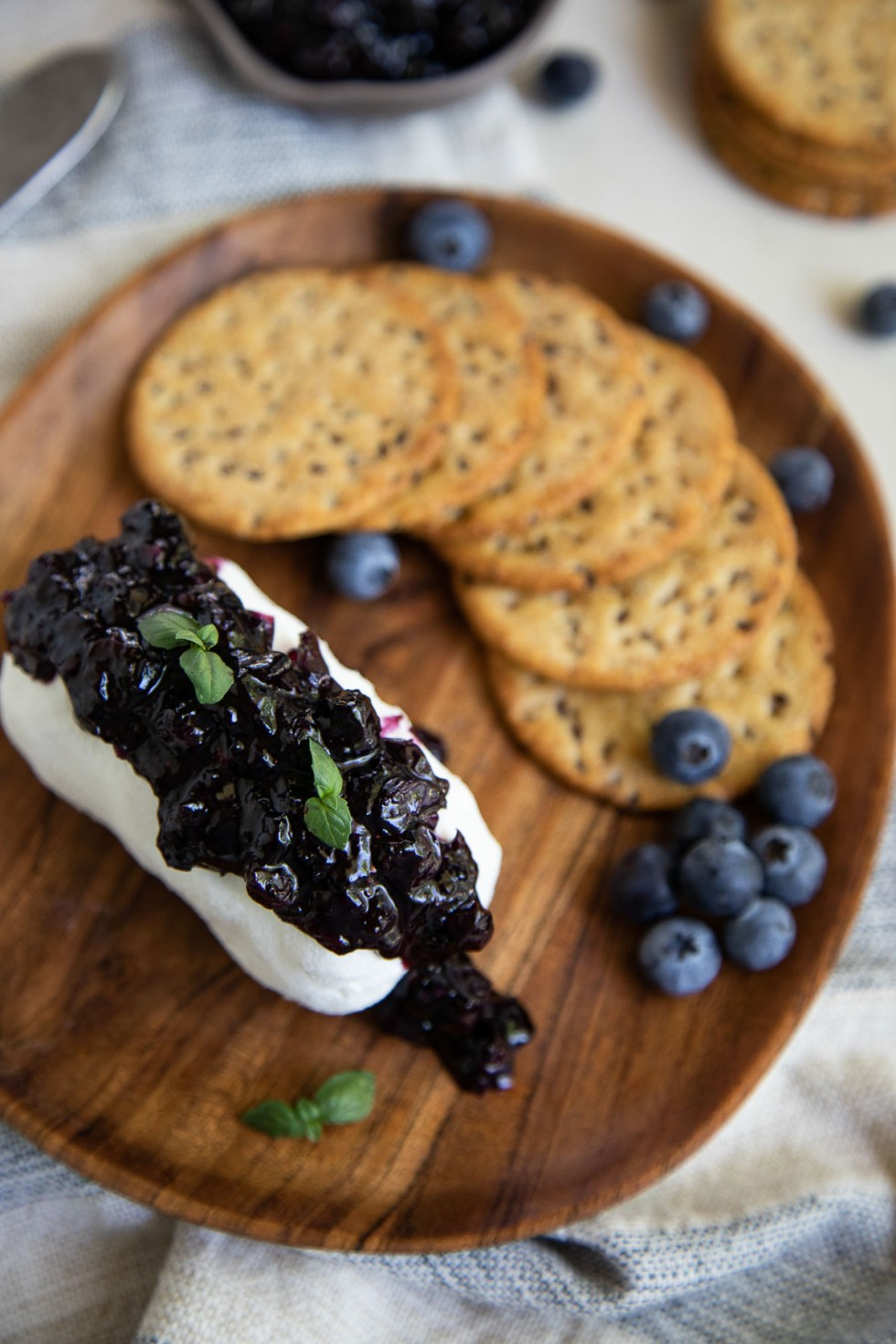 Blueberry Compote + Goat Cheese Appetizer