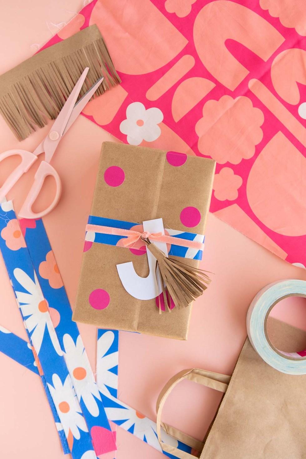 DIY Gift Wrap Ideas - Fabric Scraps into Tape