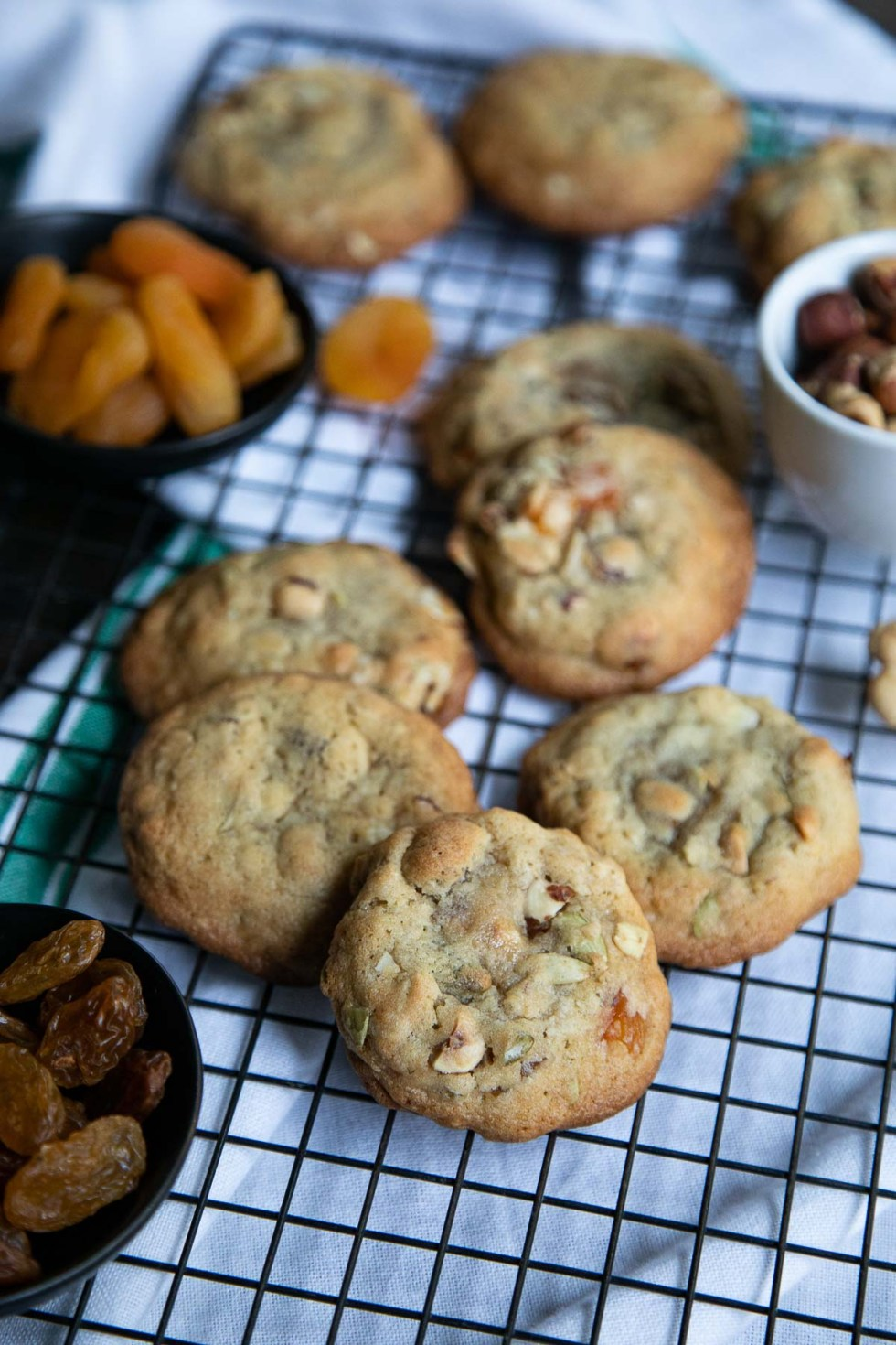 Homemade Muesli Cookies on Drying Rack
