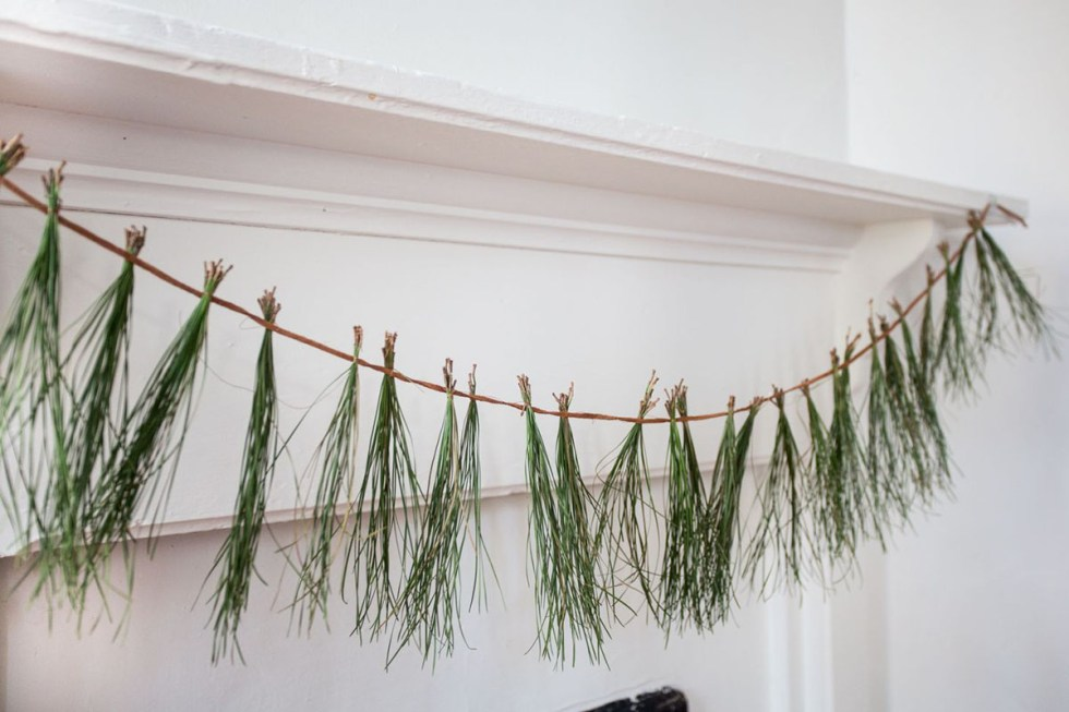 pine needle garland