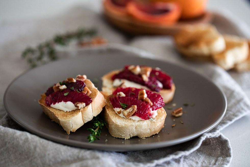 Blood Orange Crostini - Spring Appetizer