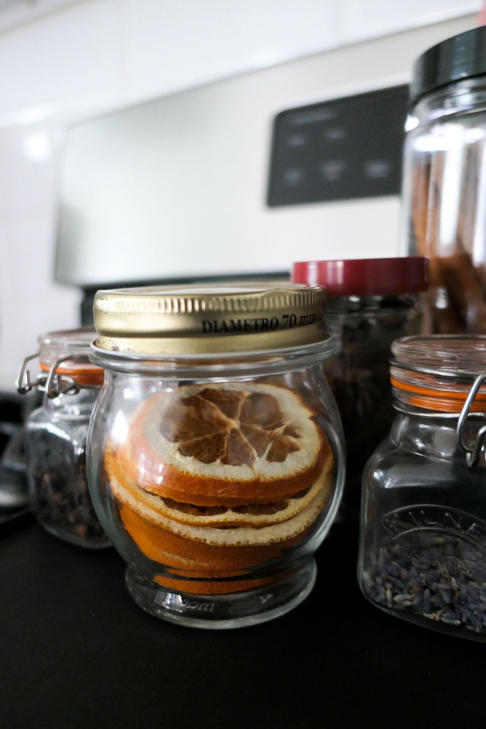 Dried Orange Slices in Jar