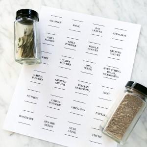 bulk spice labels
