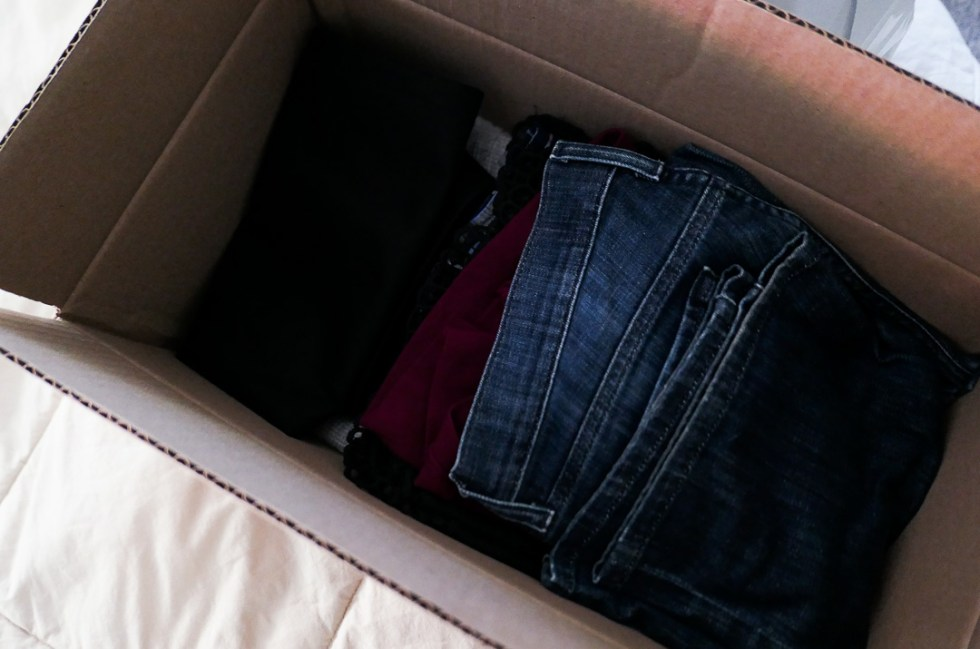 Recycling Old Clothes - In Box to Mail In