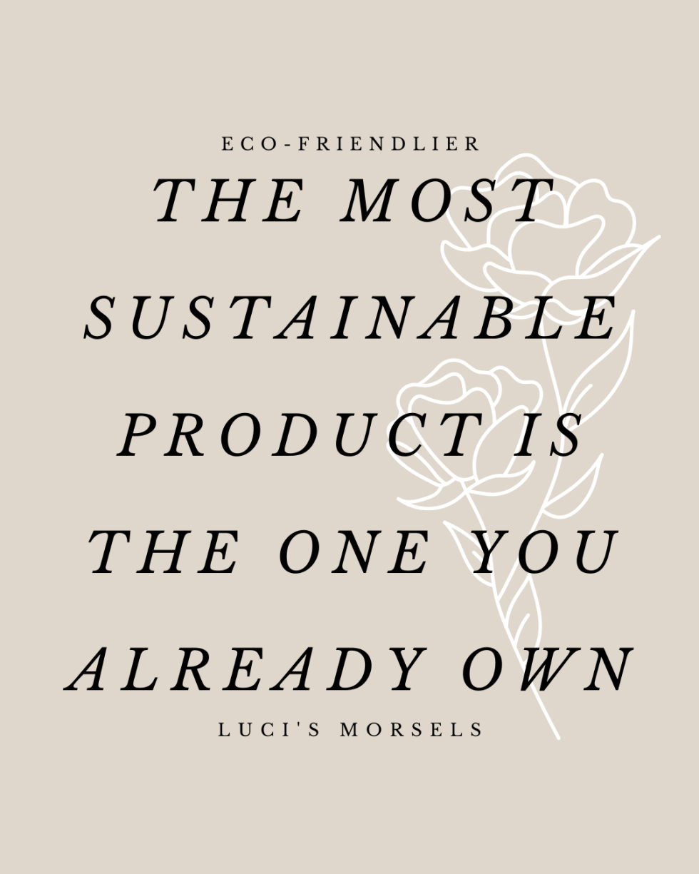 What is Sustainability - The Most Sustainable Product is the One You Already Own