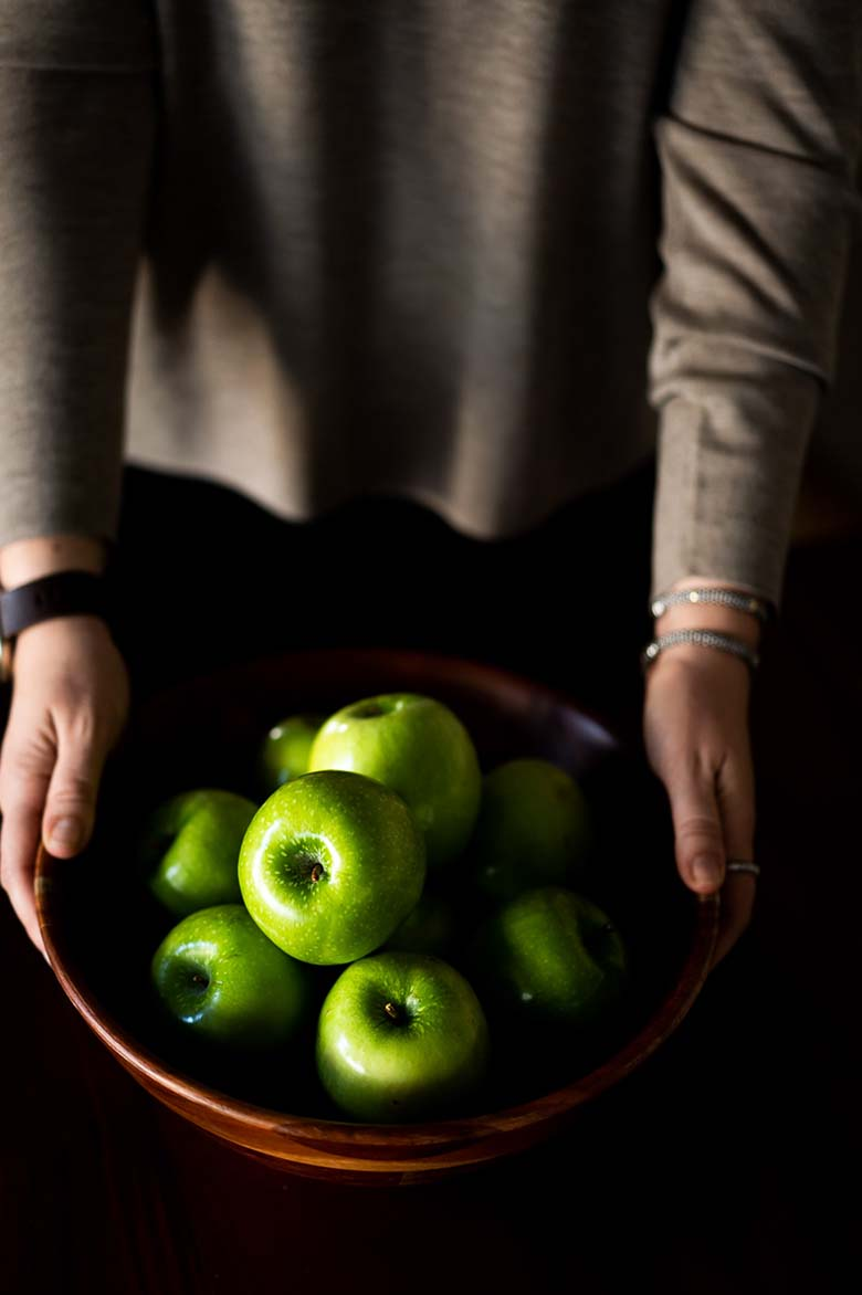 Green Apples in Bowl - Natural Fall Decor