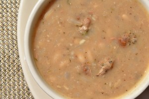 White Bean & Sausage Soup with rosemary