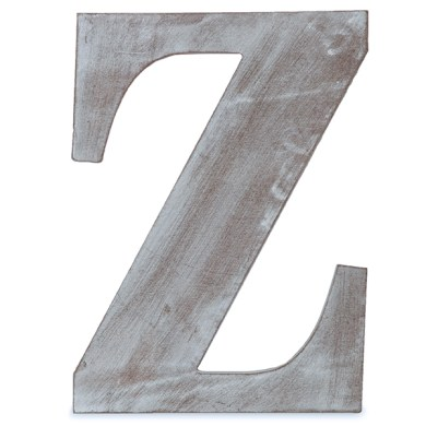 Wood Block Letter   Charcoal Grey 8in   Z The Lucky Clover Trading Co  zoom