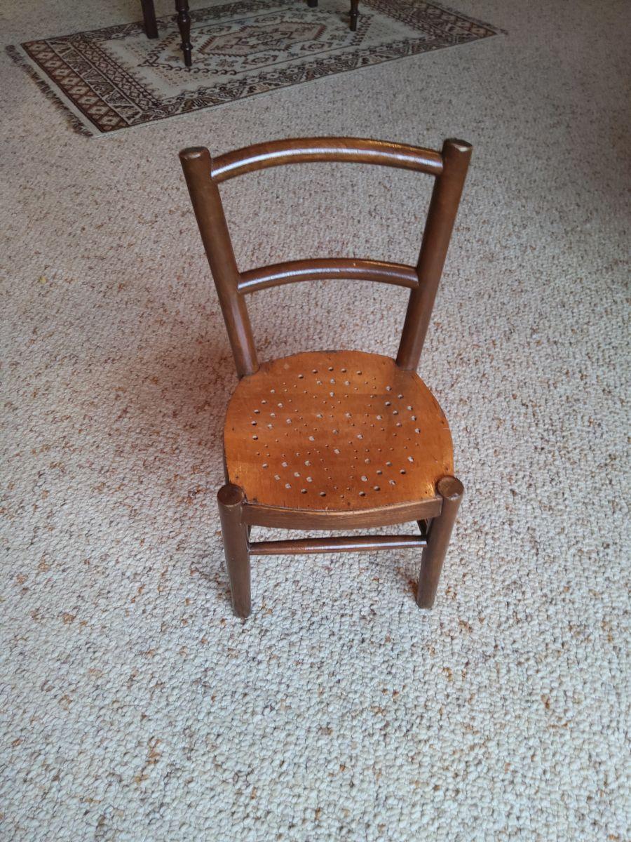 chaise enfant vintage 1920 1930
