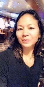 Christina Aldan AntartiConf selfie filter 1