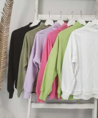 Sweater THE BASIC FACT – Stehkragen – versch. Farben