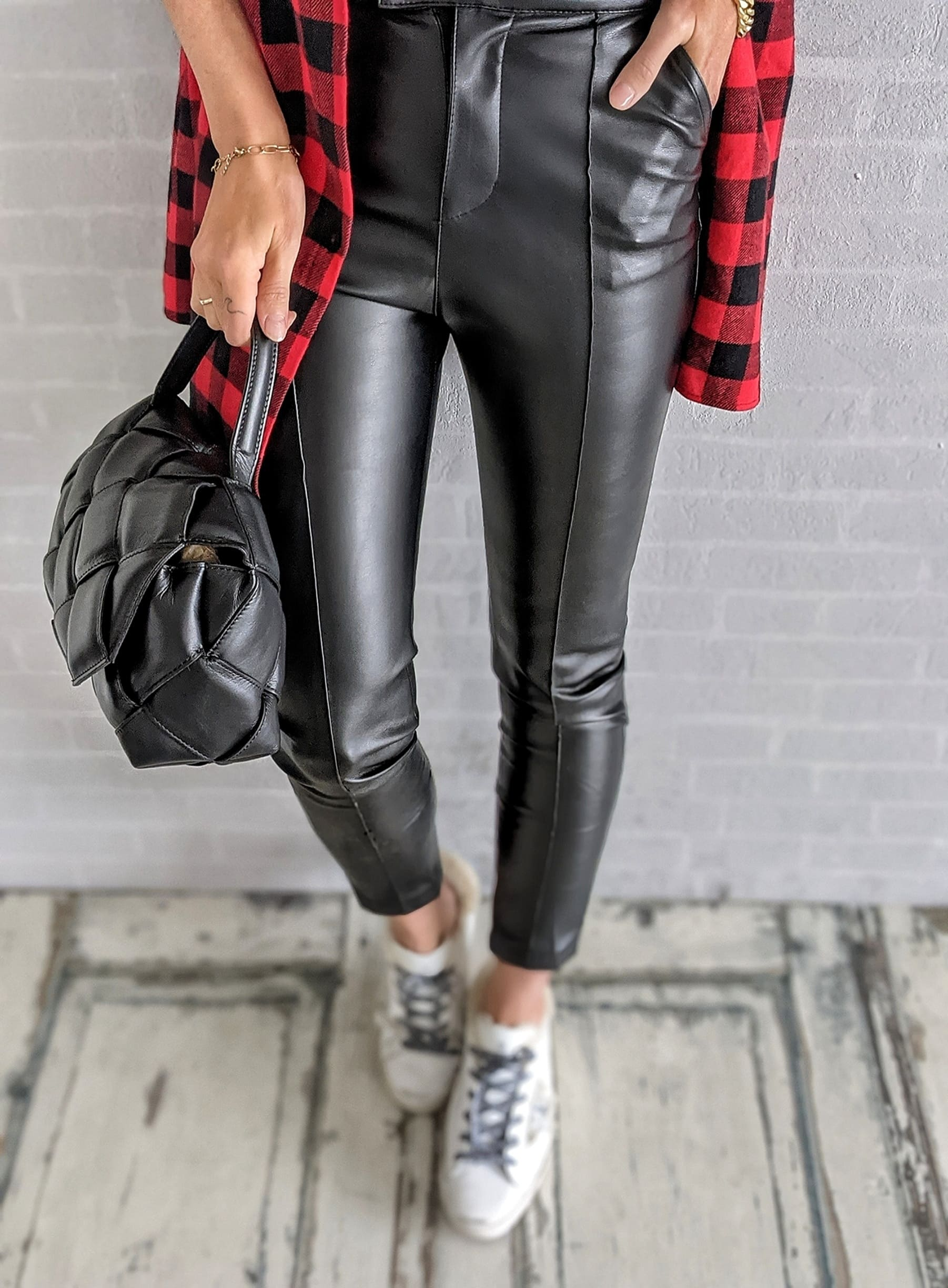 Jeggings FAUX LEATHER – black