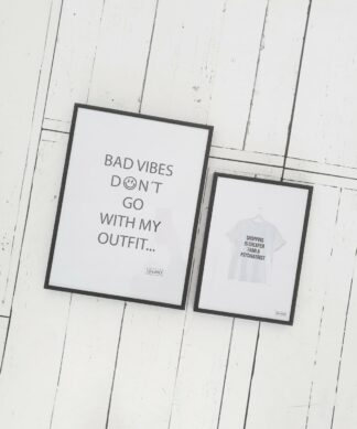 Poster BAD VIBES…| CHEAPER… – kostenlos zum Download